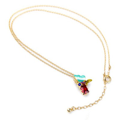 Characteristic Rhinestone Colored Necklace For Women