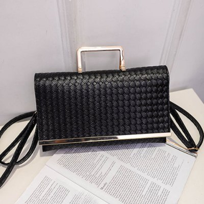 Fashionable Metal and PU Leather Design Clutch Bag For Women