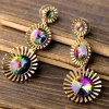 Pair of Vintage Faux Crystal Alloy Floral Earrings For Women deal