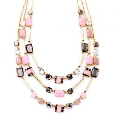 Фотография Delicate Faux Gemstone Multilayered Necklace For Women