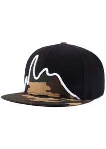 Stylish Line Shape Embroidery Camouflage Pattern Baseball Cap For Men
