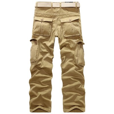 Casual Loose Fit Straight-Leg Multi-Pockets Zip Fly Cargo Pants For Men от GearBest.com INT