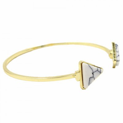 Vintage Turquiose Triangle Cuff Bracelet For Women