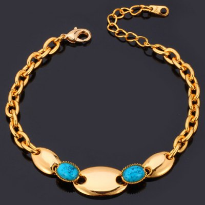 Exquisite Turquoise Oval Shape Bracelet For Women