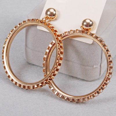 Pair of Punk Style Round Chain Earrings For Women