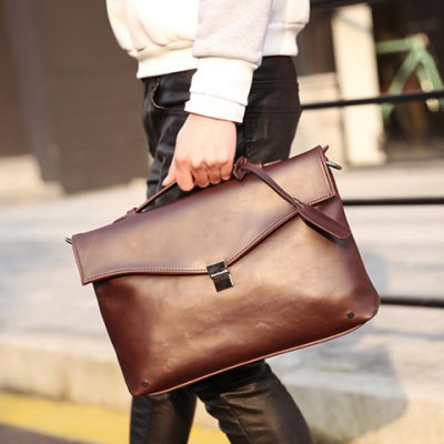 Retro PU Leather and Hasp Design Briefcase For MenMens Bags<br>Retro PU Leather and Hasp Design Briefcase For Men<br><br>Gender: For Men<br>Style: Vintage<br>Closure Type: Hasp<br>Pattern Type: Solid<br>Height: 25CM<br>Length: 35CM<br>Width: 10CM<br>Main Material: PU<br>Weight: 1.200KG<br>Package Contents: 1 x Briefcase
