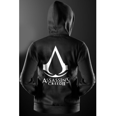 Assassins Creed Print Front Pocket Drawstring Hooded Long Sleeves Zip Up Hoodie For MenMens Hoodies &amp; Sweatshirts<br>Assassins Creed Print Front Pocket Drawstring Hooded Long Sleeves Zip Up Hoodie For Men<br><br>Material: Cotton Blends<br>Clothing Length: Regular<br>Sleeve Length: Full<br>Style: Fashion<br>Weight: 0.540KG<br>Package Contents: 1 x Hoodie