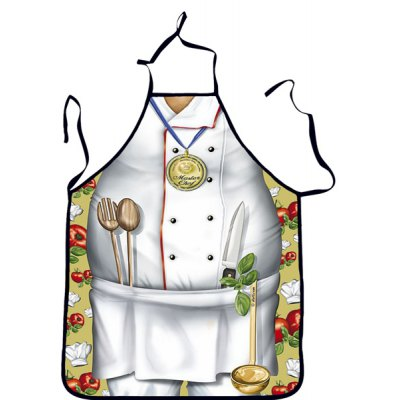 Creative Chef Pattern Printed Apron