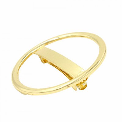 Chic Solid Color Hollow Our Circular Shape Hairgrip For Women
