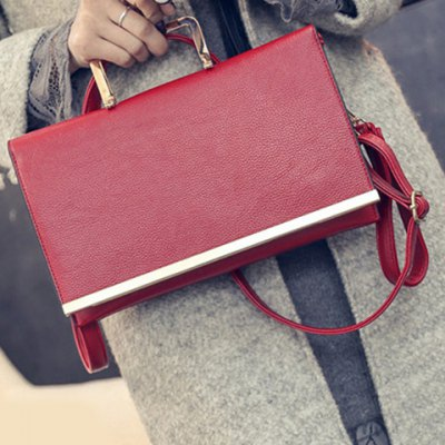 Trendy Metallic and PU Leather Design Crossbody Bag For WomenWomens Bags<br>Trendy Metallic and PU Leather Design Crossbody Bag For Women<br><br>Handbag Type: Shoulder bag<br>Style: Fashion<br>Gender: For Women<br>Pattern Type: Solid<br>Handbag Size: Small(20-30cm)<br>Closure Type: Cover<br>Interior: Cell Phone Pocket<br>Occasion: Versatile<br>Main Material: PU<br>Hardness: Hard<br>Weight: 0.816kg<br>Size(CM)(L*W*H): 28*1*18<br>Strap Length: Short:5CM, Long:60-110CM (Adjustable)<br>Package Contents: 1 x Crossbody Bag