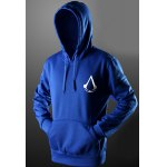 Buy Trendy Front Pocket Assassins Creed Print Drawstring Hooded Long Sleeves Pullover Hoodie Men S