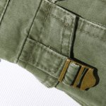 Casual Loose Fit Multi-Pockets Zip Fly Solid Color Cargo Pants For Men deal