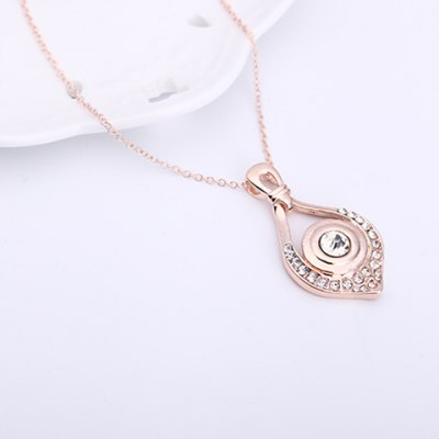 Charming Rhinestone Eye Shape Pendant Necklace and Earrings For WomenNecklaces &amp; Pendants<br>Charming Rhinestone Eye Shape Pendant Necklace and Earrings For Women<br><br>Item Type: Pendant Necklace<br>Gender: For Women<br>Necklace Type: Link Chain<br>Material: Rhinestone<br>Metal Type: Alloy<br>Style: Romantic<br>Shape/Pattern: Others<br>Length: 3.2CM(Earring)<br>Weight: 0.071KG<br>Package Contents: 1 x Necklace 1 x Earring(Pair)