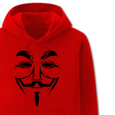 Hooded V For Vendetta Mask Man Print Drawstring Long Sleeve Mens HoodieMens Hoodies &amp; Sweatshirts<br>Hooded V For Vendetta Mask Man Print Drawstring Long Sleeve Mens Hoodie<br><br>Material: Cotton,Polyester<br>Clothing Length: Regular<br>Sleeve Length: Full<br>Style: Fashion<br>Weight: 0.626KG<br>Package Contents: 1 x Hoodie