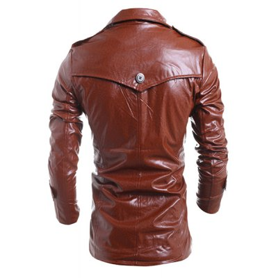 Turn-Down Collar Solid Color Long Sleeve PU-Leather Jacket For MenMens Jakets &amp; Coats<br>Turn-Down Collar Solid Color Long Sleeve PU-Leather Jacket For Men<br><br>Clothes Type: Leather &amp; Suede<br>Material: Cotton,Polyester,Faux Leather<br>Collar: Turn-down Collar<br>Clothing Length: Long<br>Style: Fashion<br>Weight: 0.900KG<br>Sleeve Length: Long Sleeves<br>Season: Fall,Winter<br>Package Contents: 1 x Jacket