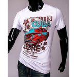 Hot Sale Cartoon Car and Letters Print Round Neck Short Sleeves 3D Printed T-Shirt For Men deal