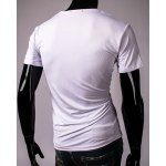 Hot Sale Cartoon Car and Letters Print Round Neck Short Sleeves 3D Printed T-Shirt For Men for sale