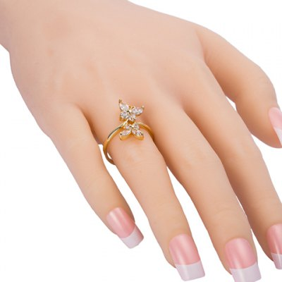 Graceful Rhinestone Butterfly Ring For WomenRings<br>Graceful Rhinestone Butterfly Ring For Women<br><br>Gender: For Women<br>Metal Type: Copper Alloy<br>Style: Trendy<br>Shape/Pattern: Insect<br>Diameter: 1.7CM<br>Weight: 0.040KG<br>Package Contents: 1 x Ring