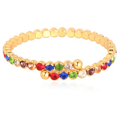Graceful Rhinestoned Colored Round Bracelet For Women