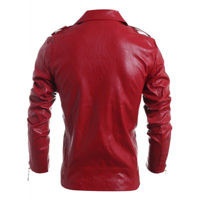 Turn-Down Collar Zipper PU-Leather Long Sleeve Jacket For MenMens Jakets &amp; Coats<br>Turn-Down Collar Zipper PU-Leather Long Sleeve Jacket For Men<br><br>Clothes Type: Jackets<br>Material: Cotton,Polyester,Faux Leather<br>Collar: Turn-down Collar<br>Clothing Length: Regular<br>Style: Fashion<br>Weight: 0.869KG<br>Sleeve Length: Long Sleeves<br>Season: Fall<br>Package Contents: 1 x Jacket