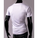 Funny Fist and Heart Print Slimming Round Neck Short Sleeves T-Shirt For Men for sale