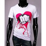 Funny Fist and Heart Print Slimming Round Neck Short Sleeves T-Shirt For Men