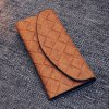 cheap Vintage PU Leather and Weaving Design Flap Wallet For Women