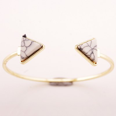 Graceful Faux Rammel Triangle Bracelet For Women