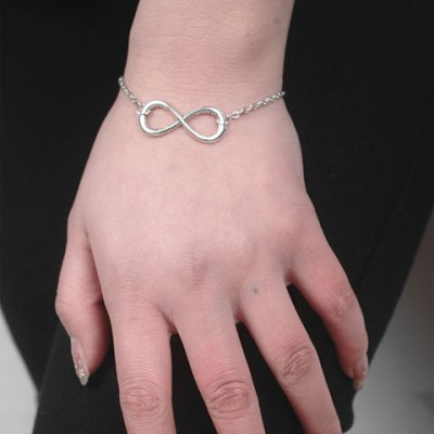 Classic Solid Color Lucky Eight Shape Bracelet For Women