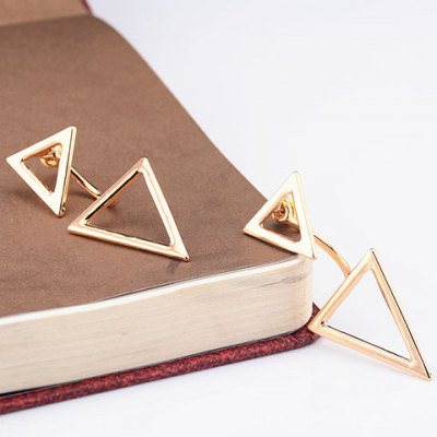 Asymmetrical Triangles Hollow Out Earrings