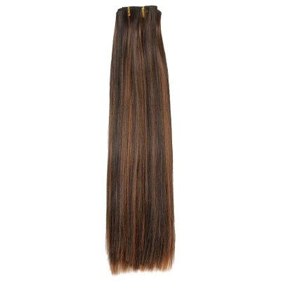 Fashion High Temperature Fiber Straight Long Hair Extensions For Women