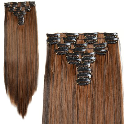 High Temperature Fiber Long Straight Hair Extensions
