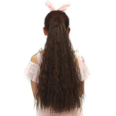 Fashion Heat Resistant Synthetic Long Corn Hot Ponytail For Women