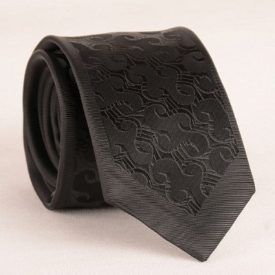 Stylish Retro Jacquard 6.5CM Width Black Tie For Men