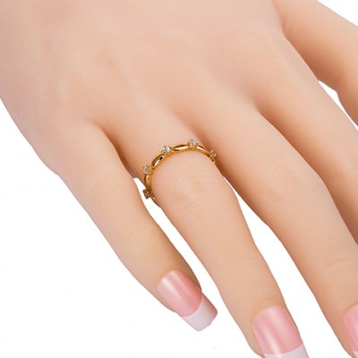 Delicate Hollow Out Rhinestone Decorated Ring For Women