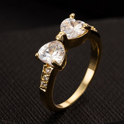 Exquisite Bowknot Shape Rhinestone Decorated Ring For Women