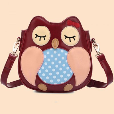 Cute Polka Dot and Owl Shape Design Crossbody Bag For WomenWomens Bags<br>Cute Polka Dot and Owl Shape Design Crossbody Bag For Women<br><br>Handbag Type: Shoulder bag<br>Style: Fashion<br>Gender: For Women<br>Pattern Type: Character<br>Handbag Size: Small(20-30cm)<br>Closure Type: Zipper<br>Interior: Interior Zipper Pocket<br>Occasion: Versatile<br>Main Material: PU<br>Weight: 0.580KG<br>Size(CM)(L*W*H): 20*8*21.5<br>Strap Length: 60-120CM (Adjustable)<br>Package Contents: 1 x Crossbody Bag