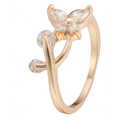 Cute Rhinestone Butterfly Ring For Women