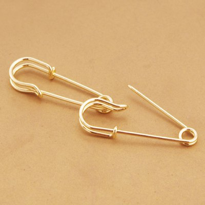 Pair of Chic Metal Pin Shape Earrings For Women