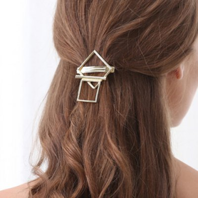 Faddish Hollow Out Geometric Shape Hairgrip For Women