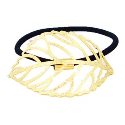 Faddish Hollow Out Leaf Shape Elastic Hair Band For Women