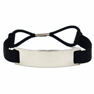 Faddish Faux Leather Elastic Hair Band For Women