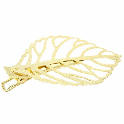 Faddish Hollow Out Matal Leaf Shape Hairpin For Women