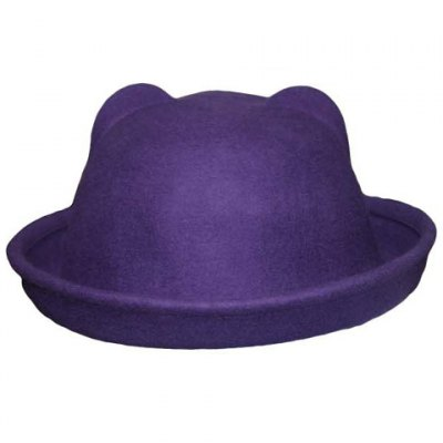 Chic Candy Color Edge Curl Felt Cat Ear Hat For WomenWomens Hats<br>Chic Candy Color Edge Curl Felt Cat Ear Hat For Women<br><br>Hat Type: Fedoras<br>Group: Adult<br>Gender: For Women<br>Style: Fashion<br>Pattern Type: Solid<br>Material: Acrylic<br>Circumference (CM): 57CM<br>Weight: 0.150KG<br>Package Contents: 1 x Hat
