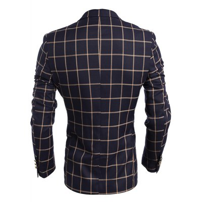 Turn-Down Collar Plaid Print Flap Pocket Long Sleeve Mens BlazerMens Blazers<br>Turn-Down Collar Plaid Print Flap Pocket Long Sleeve Mens Blazer<br><br>Material: Cotton Blends<br>Clothing Length: Regular<br>Closure Type: Single Breasted<br>Weight: 0.657KG<br>Package Contents: 1 x Blazer