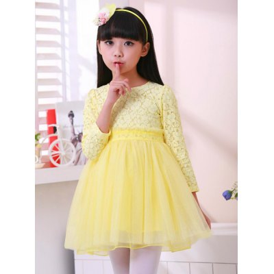 Cute Long Sleeve Pure Color Ball Gown Dress For GirlGirls Clothing<br>Cute Long Sleeve Pure Color Ball Gown Dress For Girl<br><br>Style: Cute<br>Material: Cotton Blend<br>Silhouette: Ball Gown<br>Dresses Length: Mini<br>Neckline: Round Collar<br>Sleeve Length: Long Sleeves<br>Pattern Type: Solid<br>With Belt: No<br>Season: Spring,Fall<br>Weight: 0.230KG<br>Package Contents: 1 x Dress
