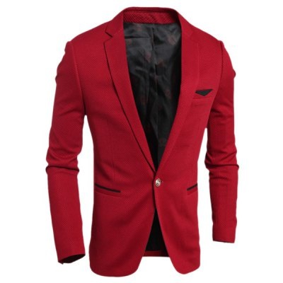 Turn-Down Collar Long Sleeve Blazer