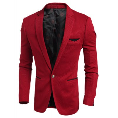 Elegant Turn-Down Collar Color Block Purfled Pocket Slimming Long Sleeve Mens BlazerMens Blazers<br>Elegant Turn-Down Collar Color Block Purfled Pocket Slimming Long Sleeve Mens Blazer<br><br>Material: Cotton Blends<br>Clothing Length: Regular<br>Closure Type: Single Breasted<br>Weight: 0.665KG<br>Package Contents: 1 x Blazer