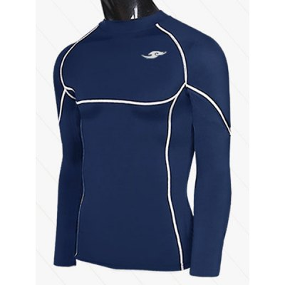 Sports Round Neck Quick-Drying Long Sleeve Tight Men's T-Shirt