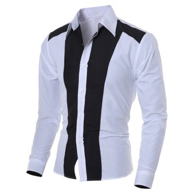 Turn-Collar Hit Color Long Sleeve Slimming  Mens ShirtMens Shirts<br>Turn-Collar Hit Color Long Sleeve Slimming  Mens Shirt<br><br>Shirts Type: Casual Shirts<br>Material: Cotton Blends<br>Sleeve Length: Full<br>Collar: Turn-down Collar<br>Weight: 0.420KG<br>Package Contents: 1 x Shirt